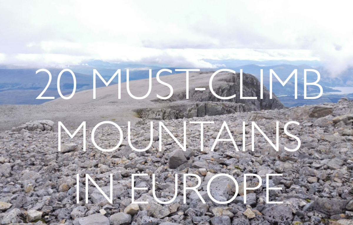 Twenty Must-Climb Mountains in Europe