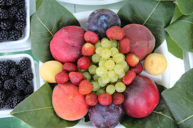 Fruitarians eat fruit and nuts
