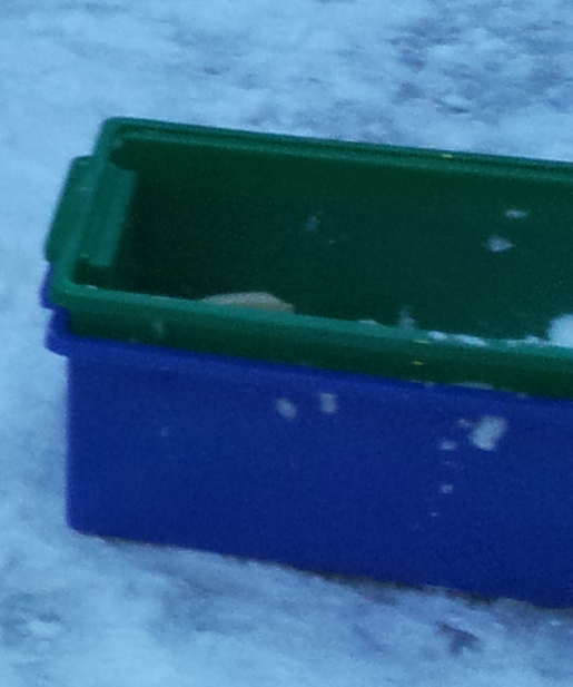 These are the stronger plastic boxes we used to make the bricks from the 2nd layer upwards.  I don't know where they're from - my OH was using them to store Lego before this.