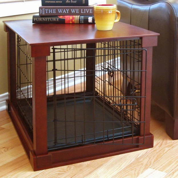 This gorgeous crate is cunningly disguised as a coffee table and would be suitable for a 24/7 free roaming houserabbit, or even overnight accommodation for your houserabbit if it was decked out with food, water, hay and toys, although if your rabbit is in his house a lot, you definitely need something bigger.