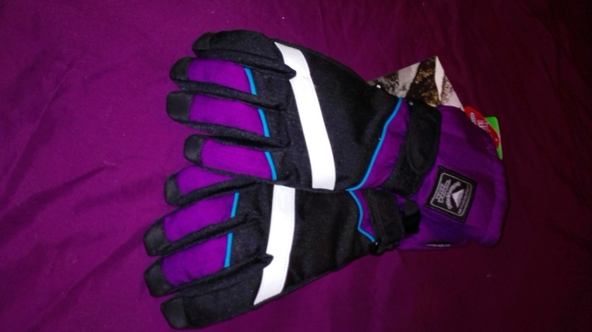 No Fear winter sports gloves with clip