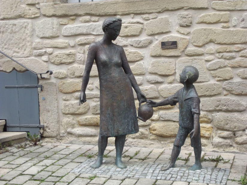 The statue outside the Sindelfingen museum near Stuttgart Germany