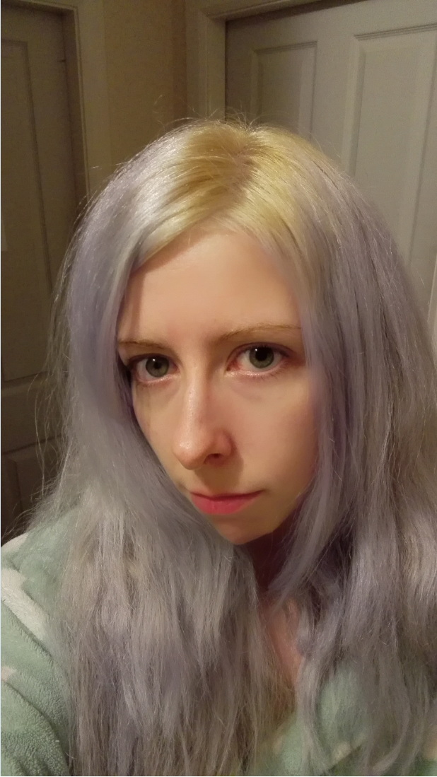 silver hair using directions silver toner for lightest white blonde hair