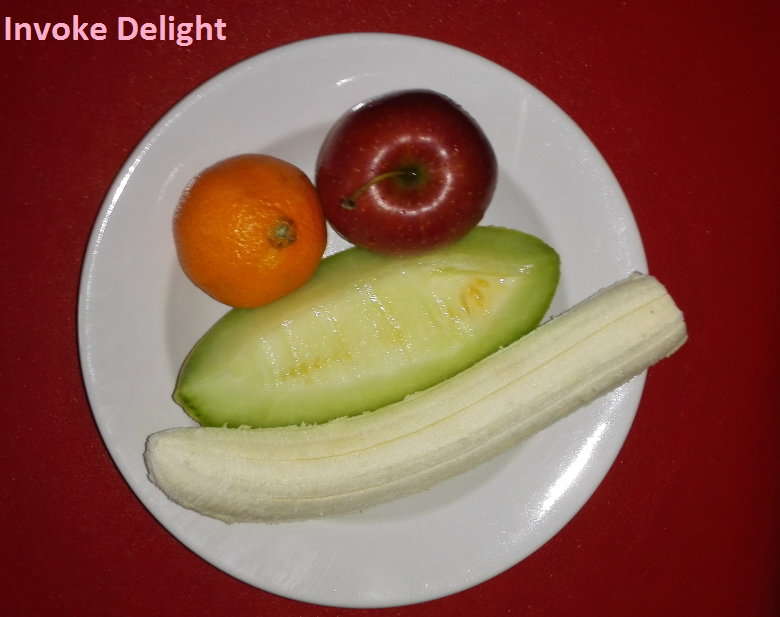 A typical fruitarian meal