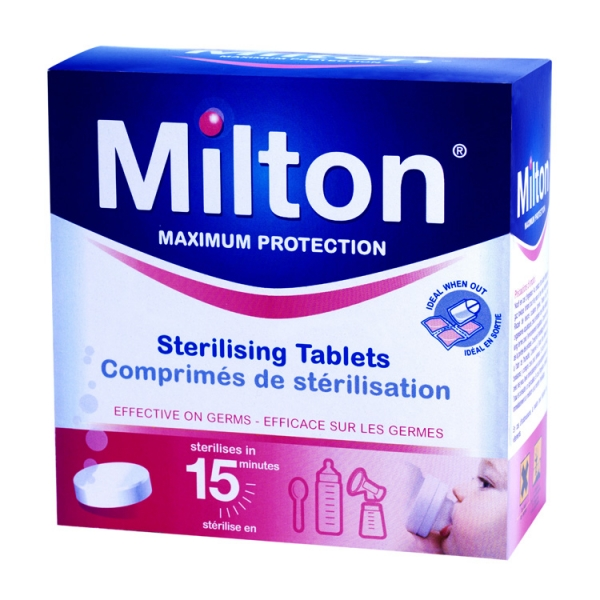 This is one example of sterilising tablets for babies.