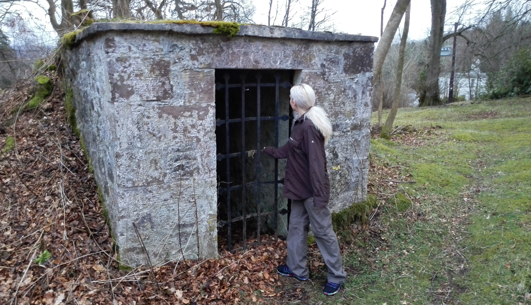 In another direction, the ice house.