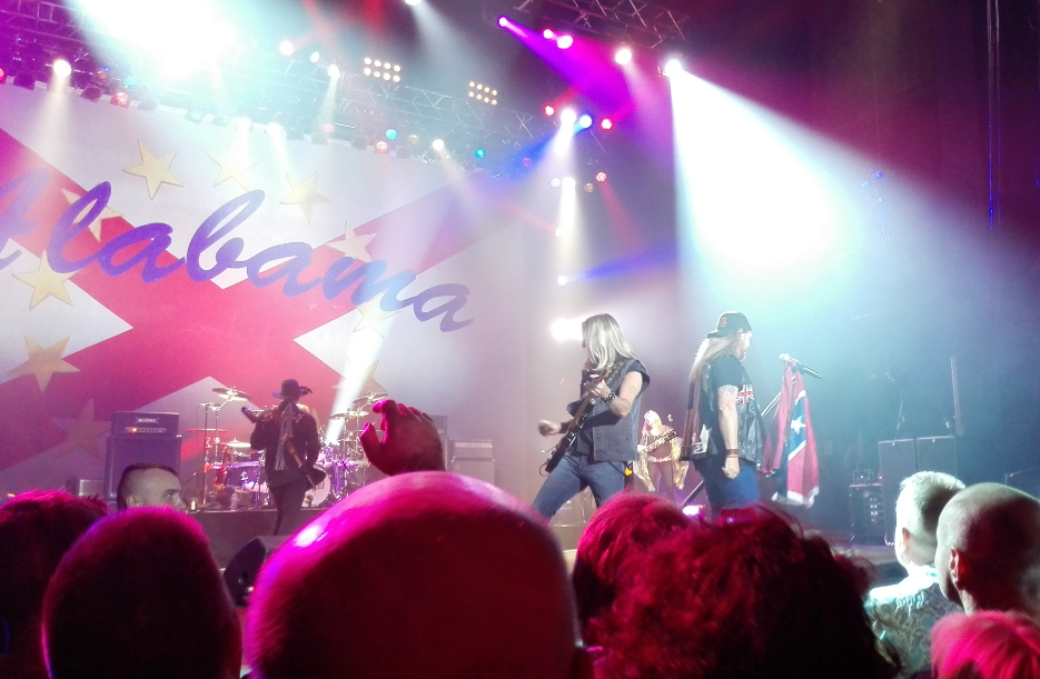 Lynyrd Skynyrd in concert Manchester April 22nd 2015 confederate flag