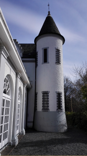 One of the turrets.