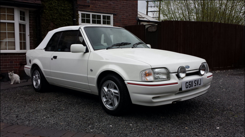 Ford Escort Cabriolet White 1990