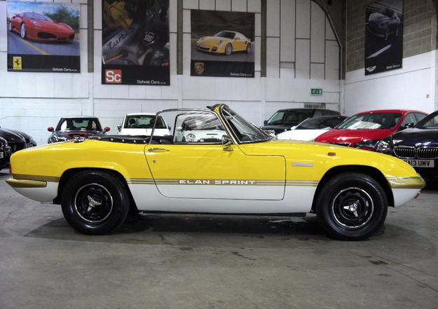 lotus elan original sprint yellow classic car