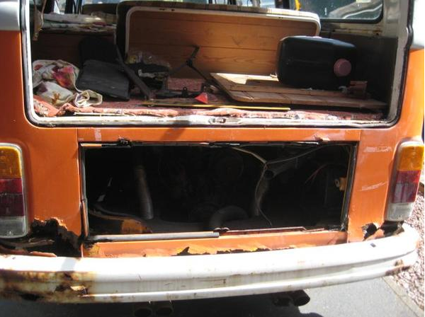 volkswagen devon chassis damage rust