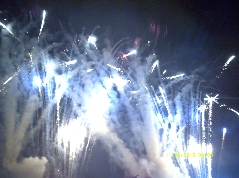 Fireworks were part of Muse's performance