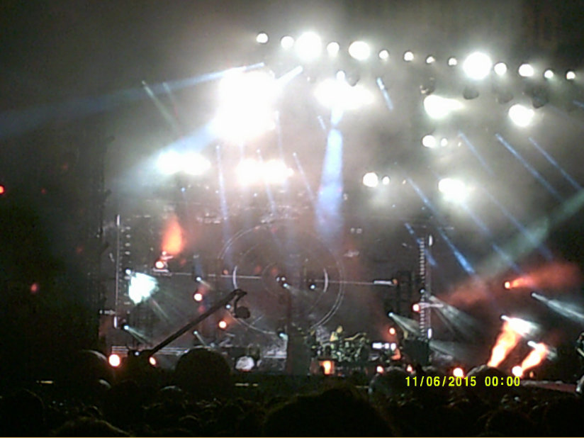 I didn't get any good pictures of Muse playing because my camera couldn't focus past the lights.