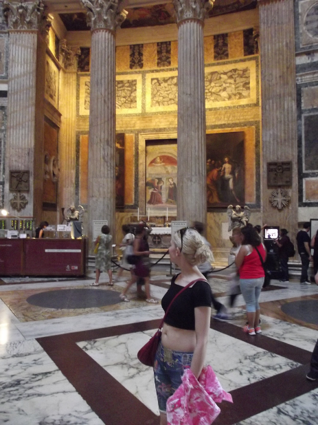 The Pantheon is completely wheelchair accessible.  Entry is free.