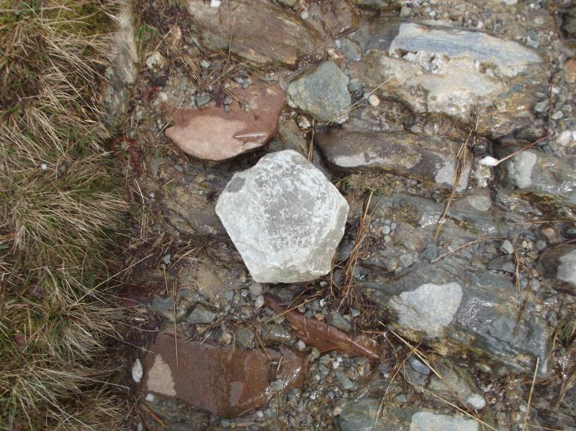 An interestingly shaped rock.