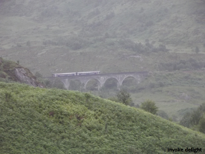 The first glimpse of the viaduct