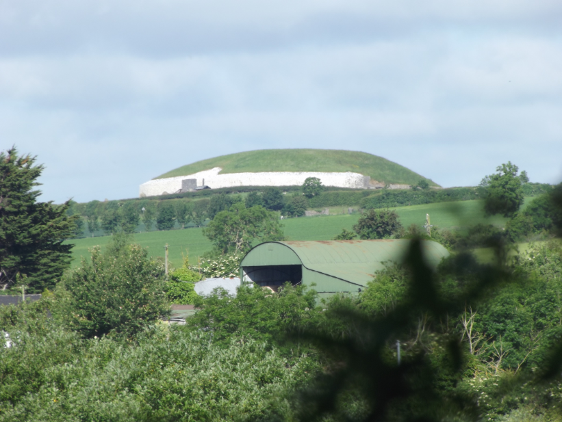 A shot of Newgrange taken from the Visitor centre.