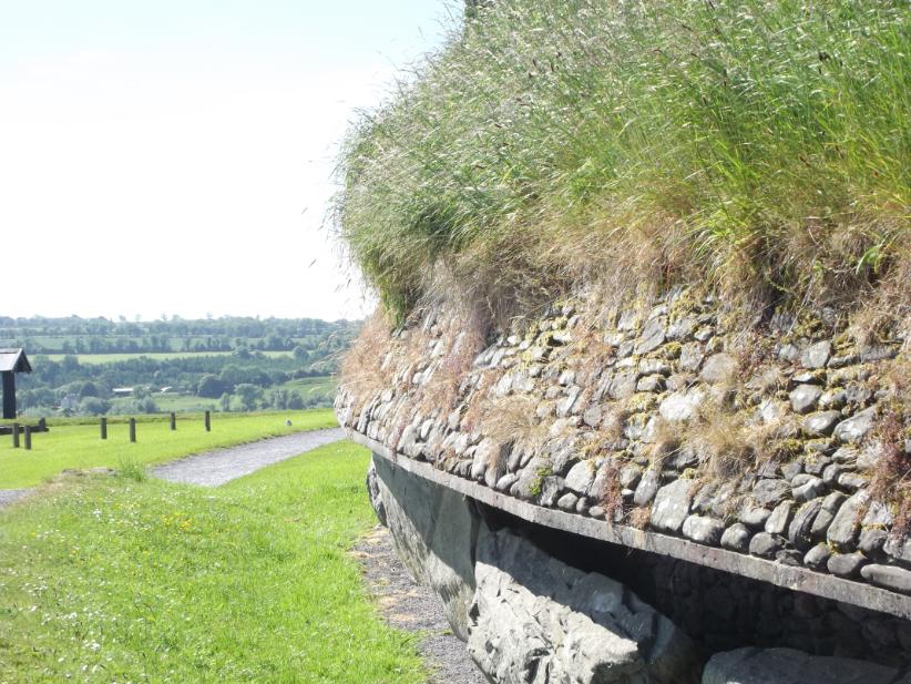 A side view of Newgrange.