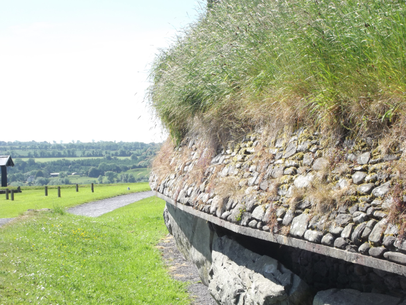 A side view of Newgrange.