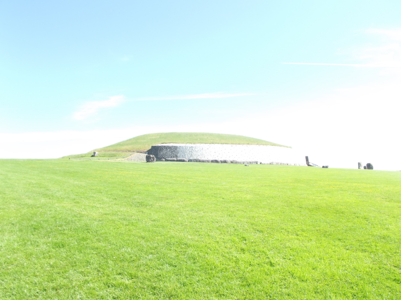 All the photos from Newgrange came out very, very brightly, because the light was doing something strange here.