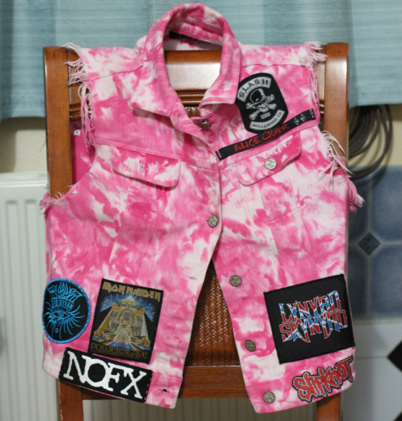 The front of my battle vest.   As you can see from the pictures, I currently only have 14 patches.