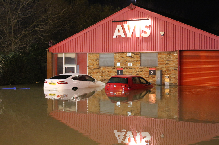 York flood 2015 cars underwater