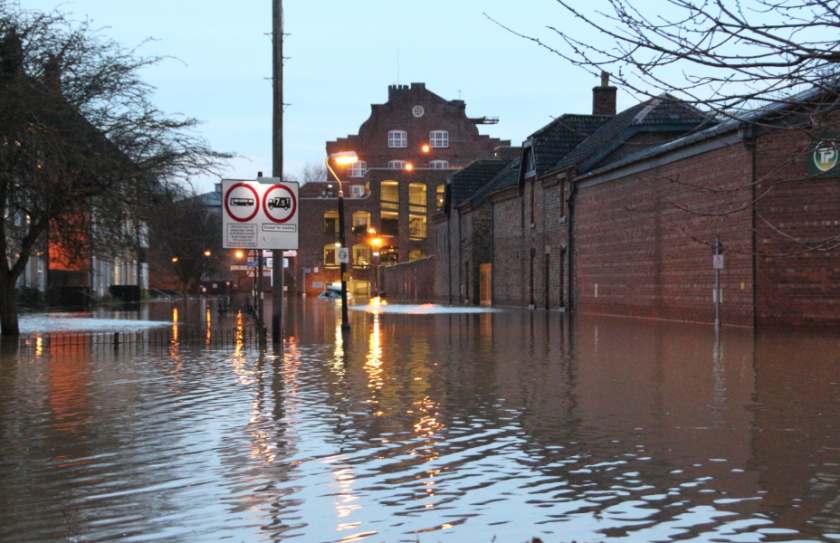 York historic building damage rowntree wharf floods 2015