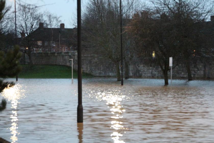 York historic building damage York walls floods 2015