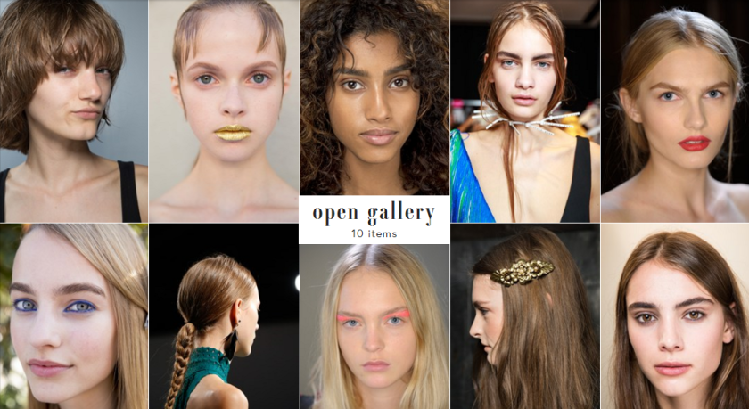 Natural, non-HD brows were a theme across every fashion show for Spring and Summer 2016.