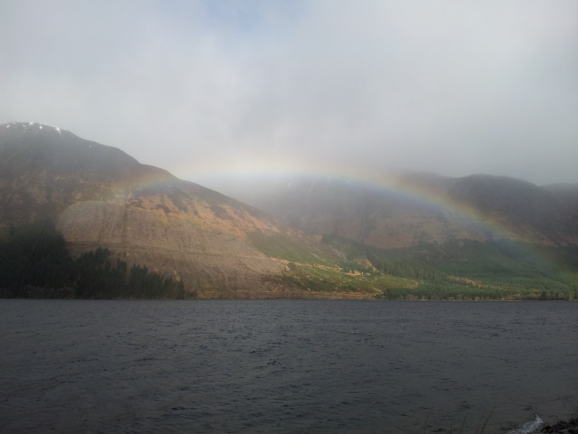 Another rainbow in the West Highlands of Scotland on the way to Loch Ness.