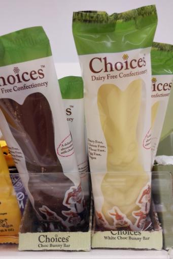 Choices vegan Easter egg bunny