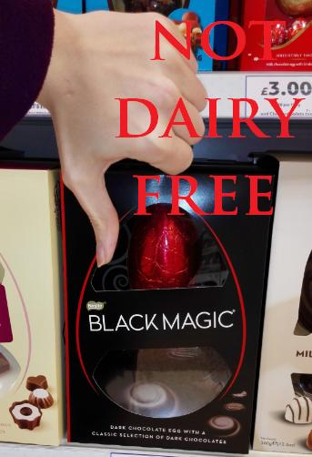 Nestle Black Magic Easter egg NOT VEGAN 2016