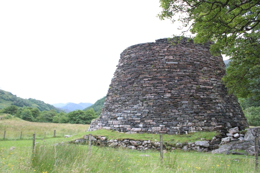 Dun Troddan, a broch in Glenelg, Scotland.
