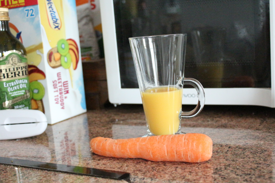 Carrot and orange smoothie. invoke delight
