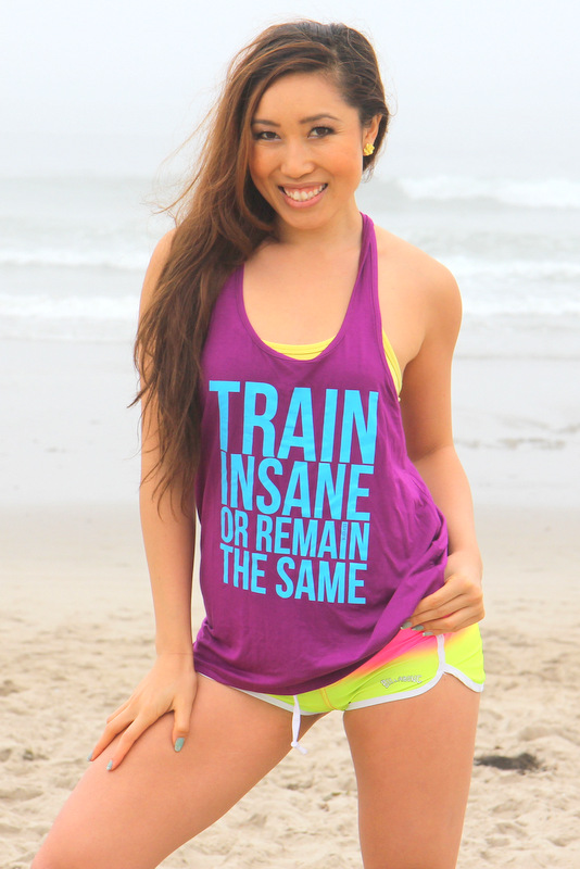 "Cassey Ho, from Blogilates: ""Train Insane or Remain The Same."""