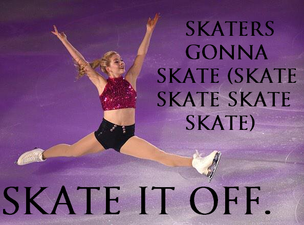 "Gracie Gold performing a figure routine to Taylor Swift's ""Shake it Off."" Skate it off skaters gonna skate"