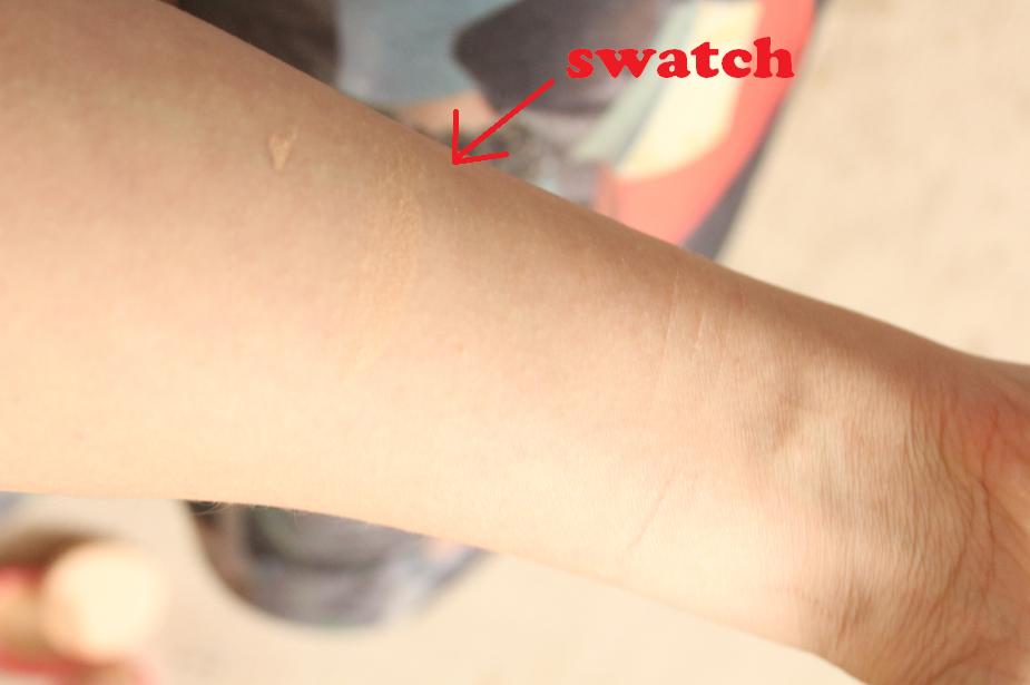 Sana Pore Putty Review swatch light 01