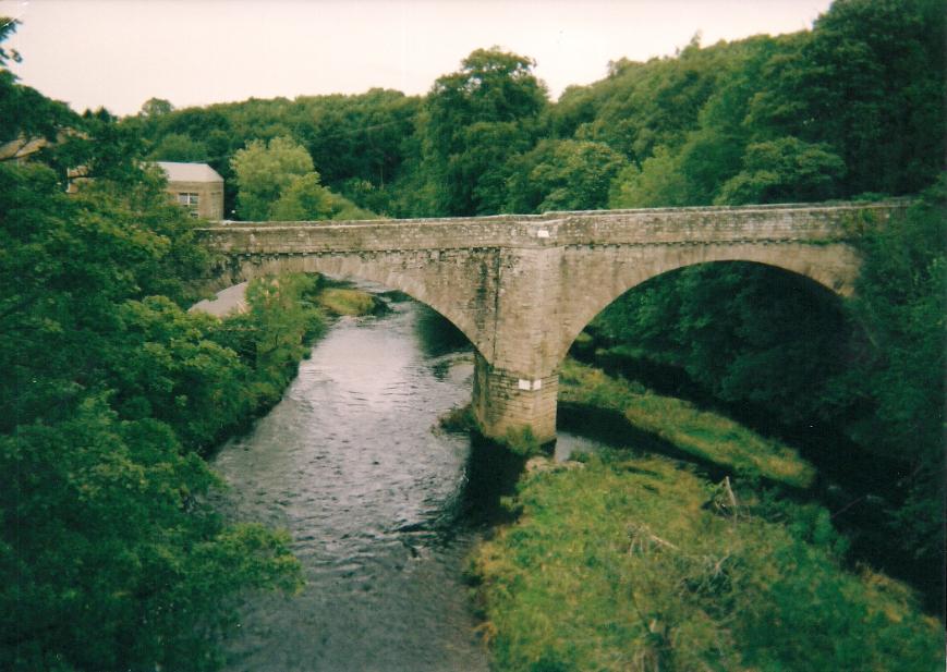 A bridge over the River Whiteadder. Blackadder Village
