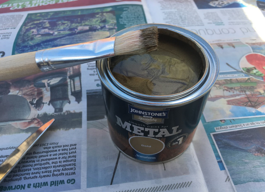 Johnstone's metal paint gold car invoke delight and inspire