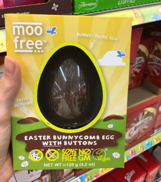 morrisons moo free unnycomb honeycomb toffee vegan easter egg
