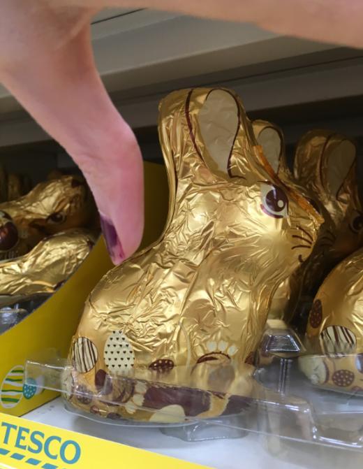 Tesco not vegan dark chocolate bunny.