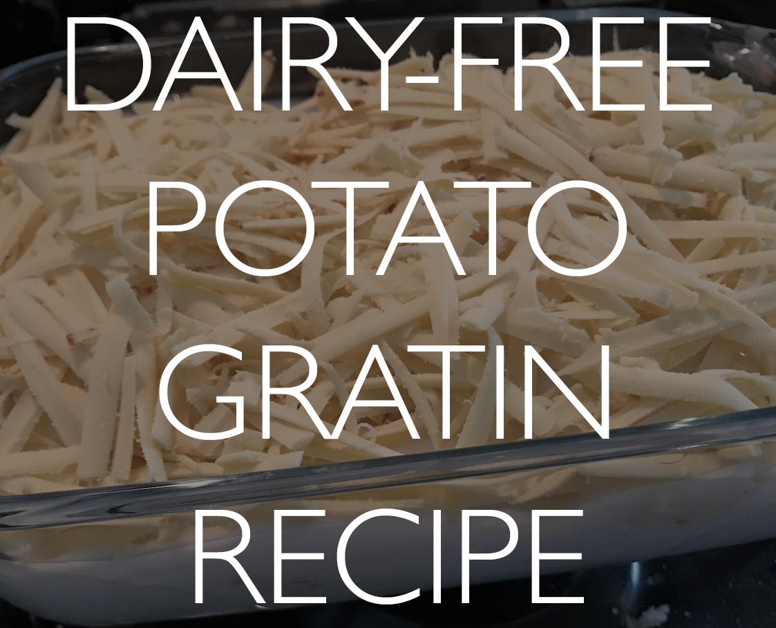 Dairy-free cheesy potato gratinrecipe