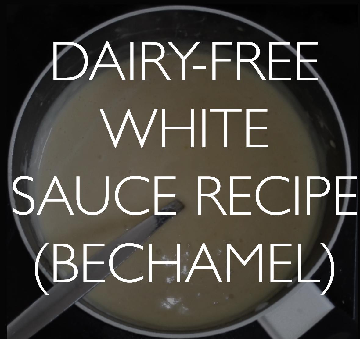 Vegan white saucerecipe