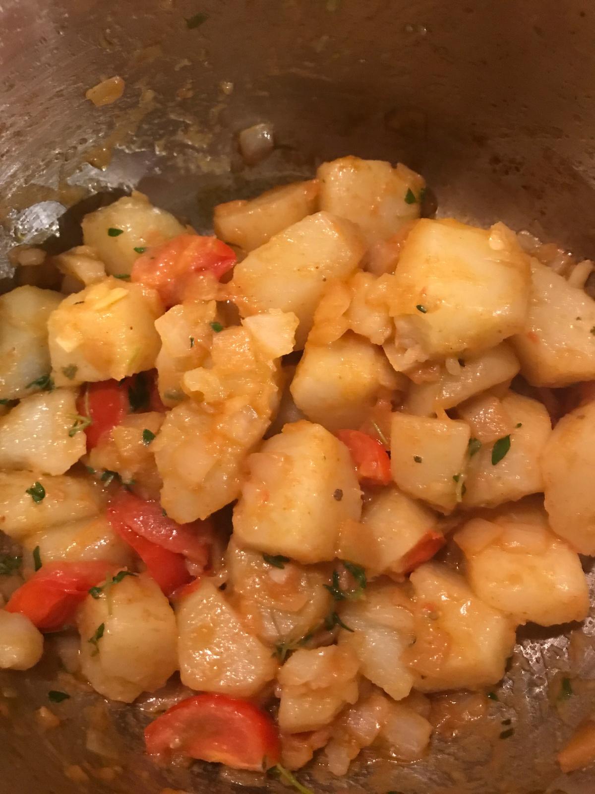 Easy Patatas Bravas style Mediterranean potatorecipe